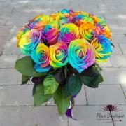 """Buchet 18 trandafiri """"Rainbow"""""""