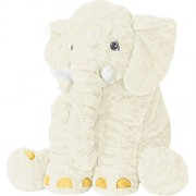 Stuffed Elephant Animal Fluffy Large Stuffed Elephant Plush Toy Softness Giant Gifts For Children Kids 24 Inches 1kg, White