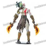 god of war 2 Muneca de juguete con pantalla de accion de PVC - kratos con cabeza de medusa