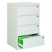 Двоен метален шкаф за висящи папки Malow File Locker с 4 чекмеджета