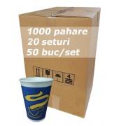 Pahar carton 12oz Albastru JND bax 1000buc