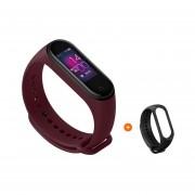 mi Band 4 banda inteligente Fitness pulsera ritmo cardíaco rastreador pantalla colorida mensaje ins