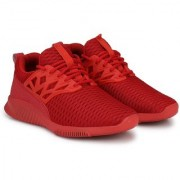 Clymb Surma Plus Red Ankle Walking Gym Running Sports Shoes For Men's In Various Sizes