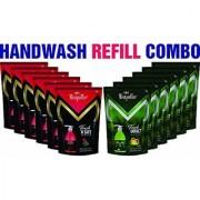 Mistpoffer Antibacterial Perfumed Liquid Handwash Refill 185 ml Super Value Pack 6 each of Tea Tree Rose + Citrus Cedarwood