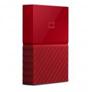 Western Digital WD My Passport WDBYFT0030BRD - Disco rígido - encriptado - 3 TB - externa (portátil) - USB 3.0 - 256-bits AES - vermelho