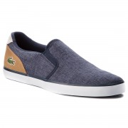 Гуменки LACOSTE - Jouer Slip On 218 1 Cam 7-35CAM0050NT9 Nvy/Lt Tan