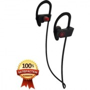 QC10 Bluetooth Headset Stereo Sound Sweat Proof Earphones with Mic and Ear Hook (Multicolour)