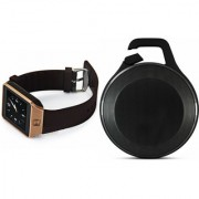 Zemini DZ09 Smart Watch and Clip Plus Bluetooth Speaker for LG OPTIMUS G PRO(DZ09 Smart Watch With 4G Sim Card Memory Card  Clip Plus Bluetooth Speaker)