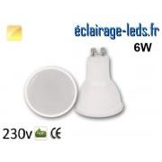Ampoule LED GU10 translucide 6w blanc chaud 230v