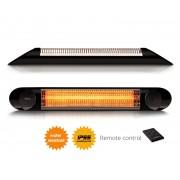 Incalzitor terasa Veito Blade 2kW, fibra Carbon, Aluminiu, Telecomanda, 4 Trepte, Afisaj LED, buton Touch, IP55, Negru