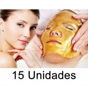 Pack 15 Mascaras Faciales Colageno, Ac Hialuronico Y Oro 24k