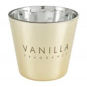 Xenos Vanillekaars in glas - goud - ø9x8.3 cm