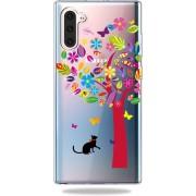 Mobigear TPU Cartoon Gekleurde Boom Samsung Galaxy Note 10