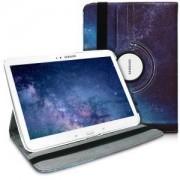 kwmobile Flipové pouzdro s designem strom pro Samsung Galaxy Tab 3 10.1 P5200/P5210 - modrá