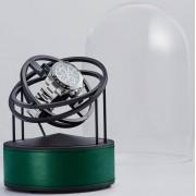 Bernard Favre Planet Black&Green leather watch winder