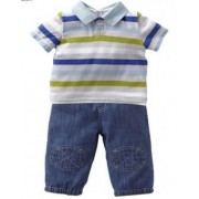 Set tricou polo si pantaloni scurti casual