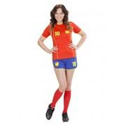 Disfraz de Jugadora de fútbol Español para mujer