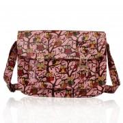 Kabelka LS0087A - Pink Oilcloth Owl Design Satchel