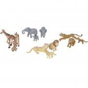 Geen 24x Safari dieren familie speelgoed figuren
