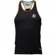 Gorilla Wear Sacramento Camo Mesh Tank Top - Zwart/Neon Oranje - S