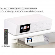 VR-Radio WLAN-Küchen-Internetradio mit Wecker, USB-Ladestation, 8,1-cm-Display