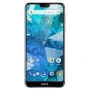 Nokia 7.1 Android One (Pie) 64GB 12+5MP cámara Dual Dual SIM Smartphone Desbloqueado, Azul