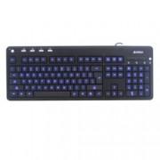 Клавиатура A4tech KD-126-1, USB, синя LED подсветка