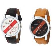 RIDIQA Black Strap White Dial Stylish Watch for men' Combo -RD-087