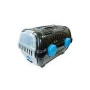 Caixa de Transporte Luxo Furacão Pet Preto e Azul
