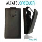 Alcatel Pop D5 Флип Кожен Калъф + Стилус