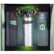 Cuba Green lote de regalo II. eau de toilette 100 ml + loción after shave 100 ml + desodorante en spray 200 ml