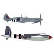 HAS02096 1:72 Hasegawa Spitfire MK VII & Mosquito MK VI Combo (2 kits) 'Operation Overlord' [MODEL BUILDING KIT]