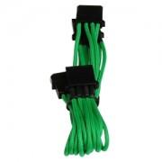 Cablu adaptor BitFenix Alchemy 4-pini Molex la 3x 4-pini Molex, 55cm, green/black, BFA-MSC-M3MGK-RP