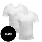 Bonds [2 Pack] V Neck Raglan Short Sleeved T Shirt Black