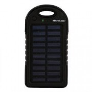 Baterie externa XT SoundLogic incarcare solara 5000mAh 5V 2 porturi USB Negru
