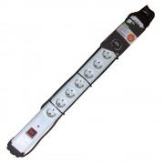 GAO 10-es hosszabbító kapcsolóval ,gyermek- és túlfesz. védelemmel,2m vezeték, fehér, szerelhető
