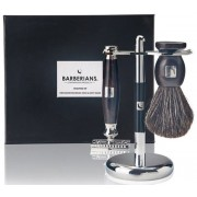 Barberians Giftbox Shaving Set - Safety Razor, Shaving Brush Pure Badger & Stand Pflegeset