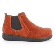 Green Comfort Elastic Boot Rust