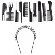 BELLA HARARO 10 Pcs Multipurpose Salon Hair Styling Hairdressing hairdresser Barber Combs Professional Comb Kit (Pack of