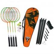 Badminton set attacker 4 speler+net
