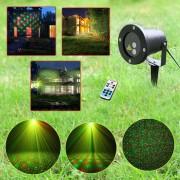 Laser pentru Exterior tip Star Shower Motion cu senzor de lumina si telecomanda