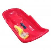 Merkloos Kinder plastic slee Bob-model rood