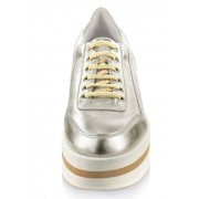 Alba Moda Sneaker mit modisch hoher Plateausohle, gold