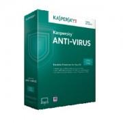 Antivirus, KASPERSKY Anti-Virus 2017, 5-Desktop, 1 year Base License Pack (KL1171XCEFS)
