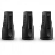 SKYSCRAPER OFFICE комплект от 3 вентилатора 16W черен