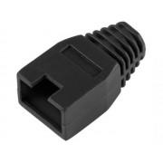 NTR CBP02BK UTP FTP STP SFTP kábel törésgátló RJ45 csatlakozóhoz - fekete