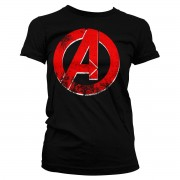 The Avengers Distressed A Logo Girly Tee