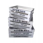 Cassetta in legno SET 3 pezzi Decorazione per Casa e Giardino IDEA REGALO