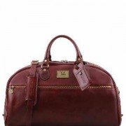 TUSCANY LEATHER Grand Sac de Voyage Cuir Bandoulière Marron -Tuscany Leather-