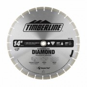 Timberline 640-380 Segmented Rim Diamond 14 Inch D 1 Inch Bore, Circular Diamond Saw Blade